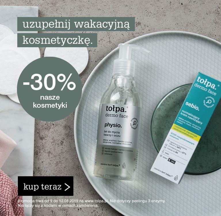 Promocja na kosmetyki Tołpa  - 30%