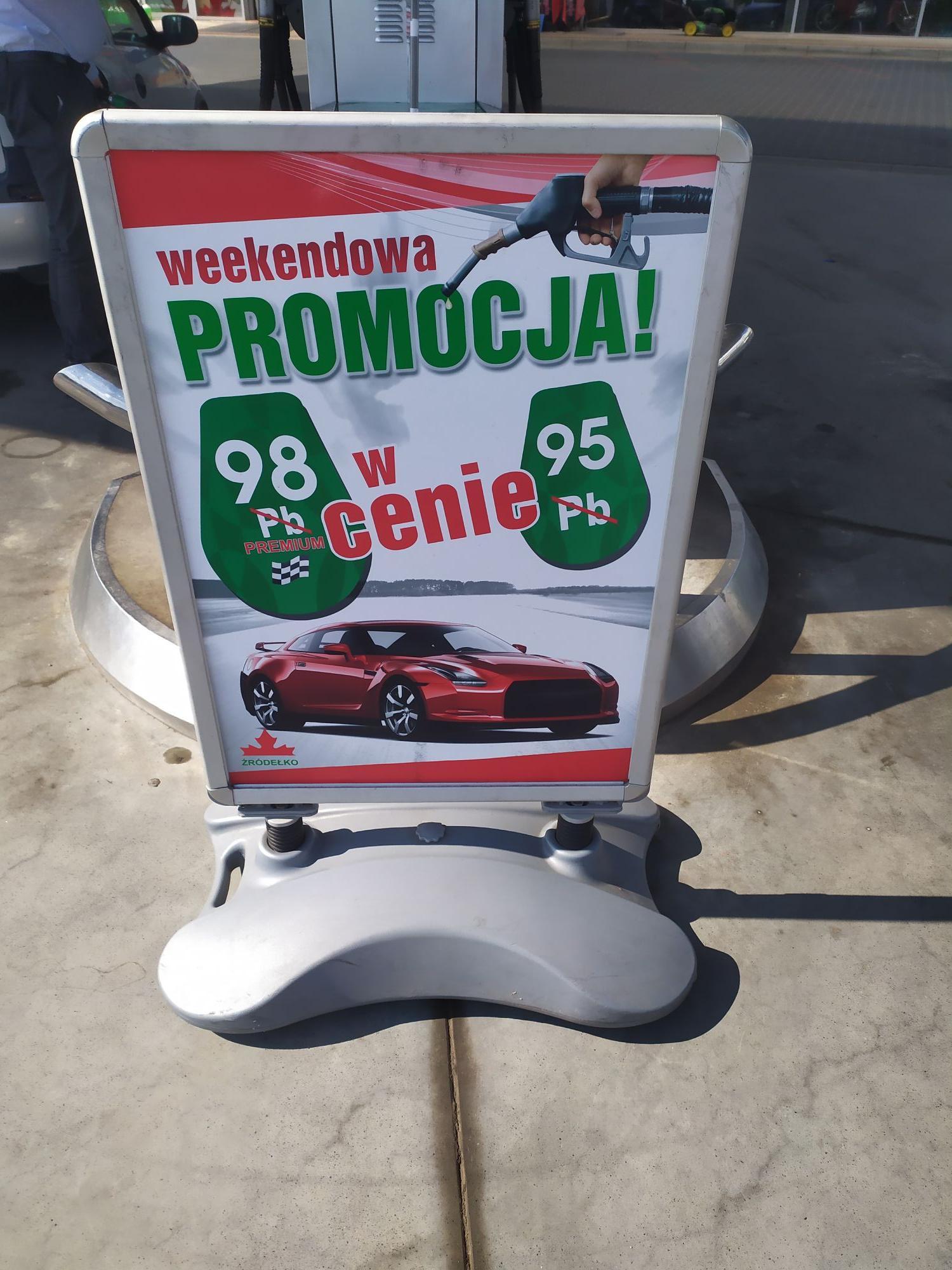Benzyna, stacja ŹRÓDEŁKO Pb 98 w cenie 95. Rzeszów
