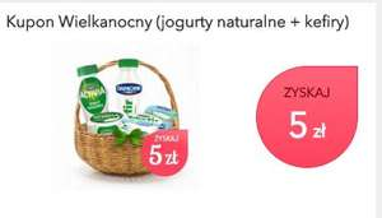 zwrot 5 zł za jogurty naturalne Danone o wartości min. 10 zł