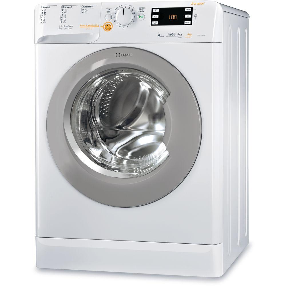 Pralko -suszarka INDESIT XWDE 961480X WSSS seria Innex, 9/6 kg, klasa en. A, 1400obr/min., Push&Wash+Dry. @neonet