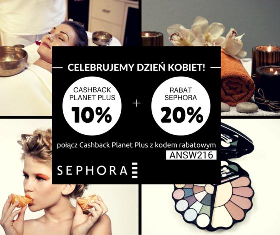 20% rabat + 10% cashback na cały asortyment @Sephora @planetplus