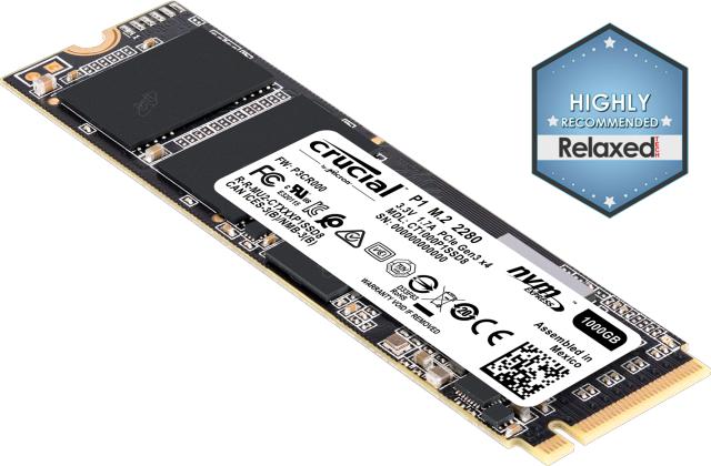 SSD M.2 Crucial P1 - 1TB, NVMe
