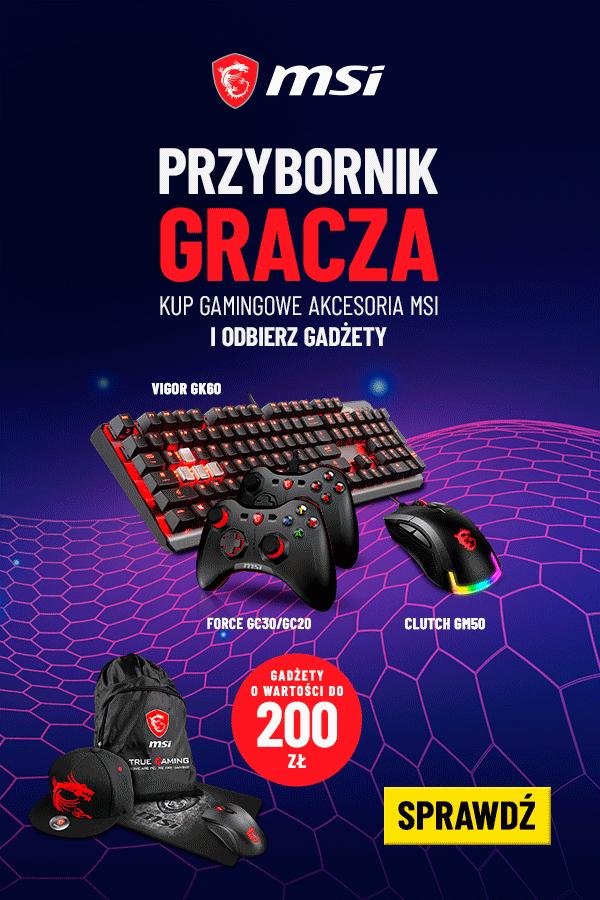 Promocja na akcesoria gamingowe MSI - PRZYBORNIK GRACZA