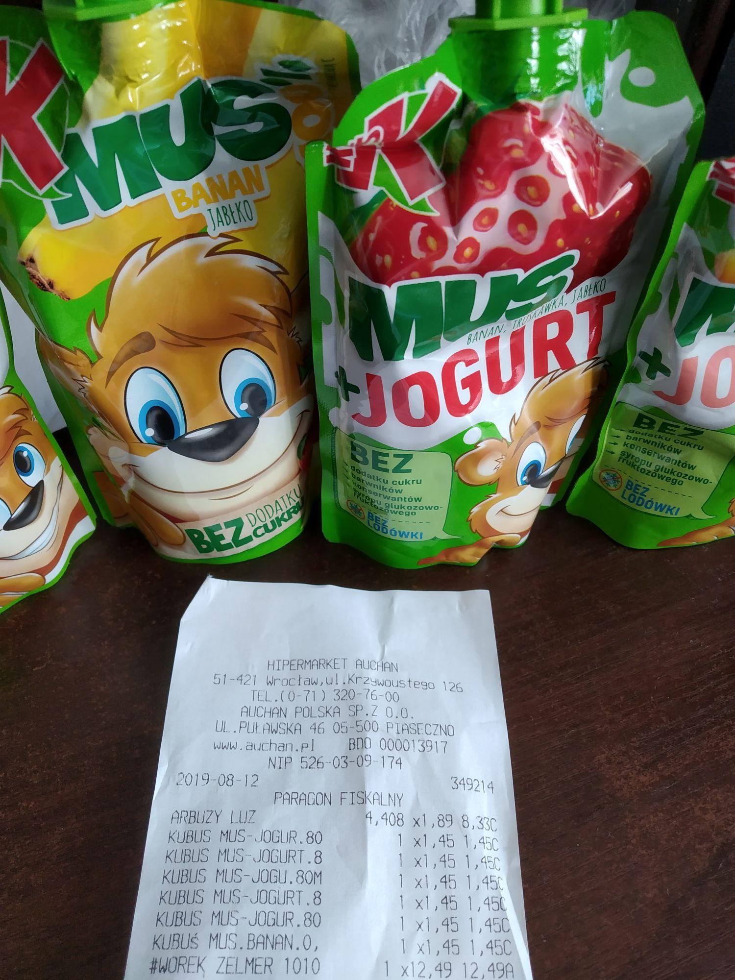 Musy Kubuś w Auchan