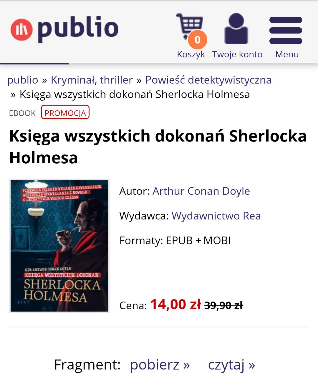E-book  Sherlock Holmes