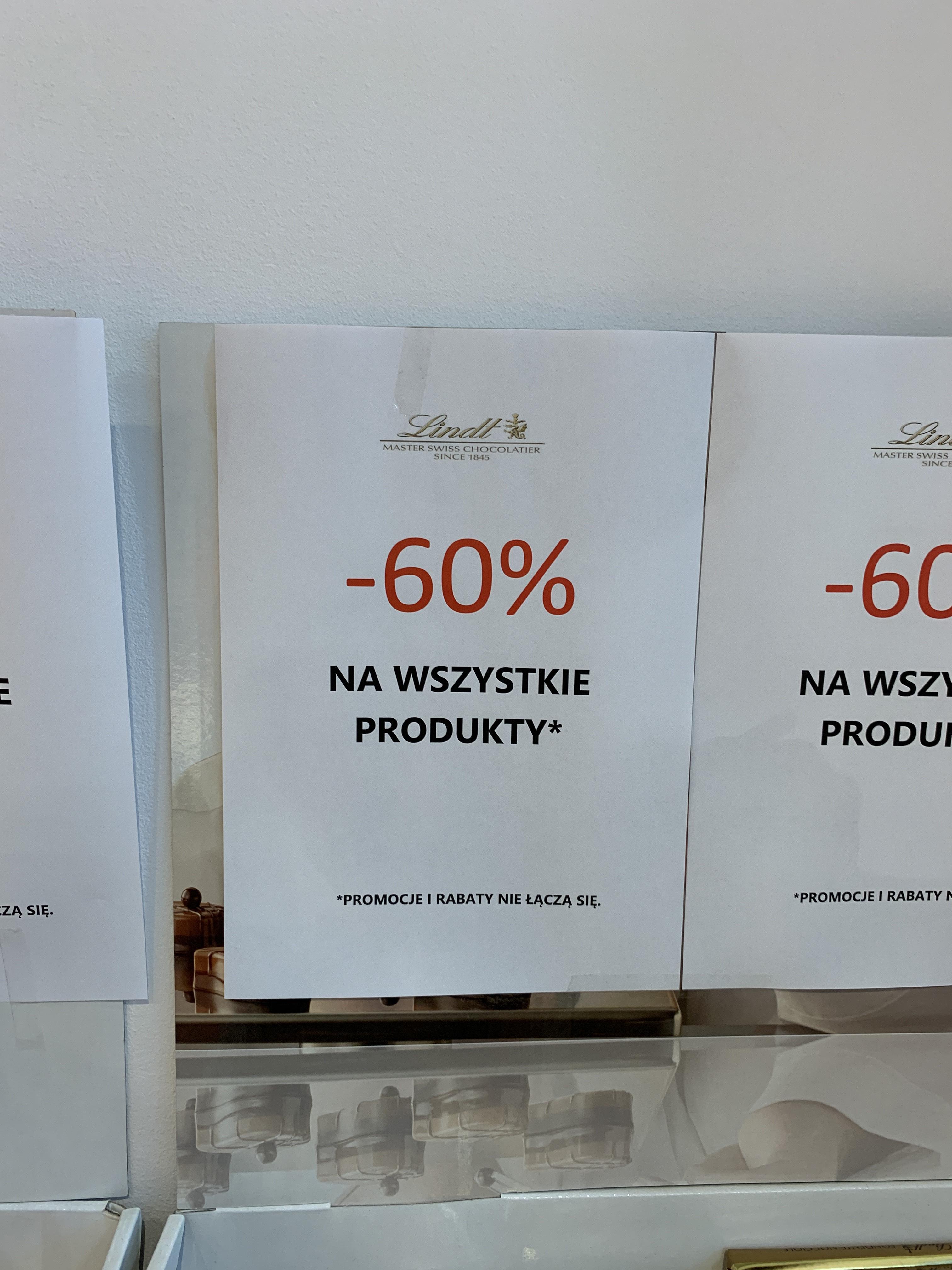 Lindt outlet Wrocław - 60% na wszystko