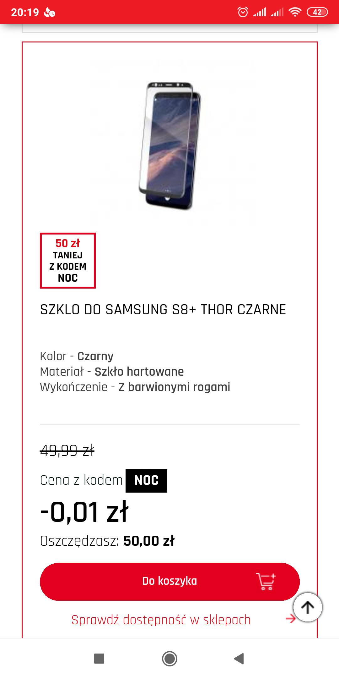Szkło hartowane do Samsung S8+ za 2gr @Neonet
