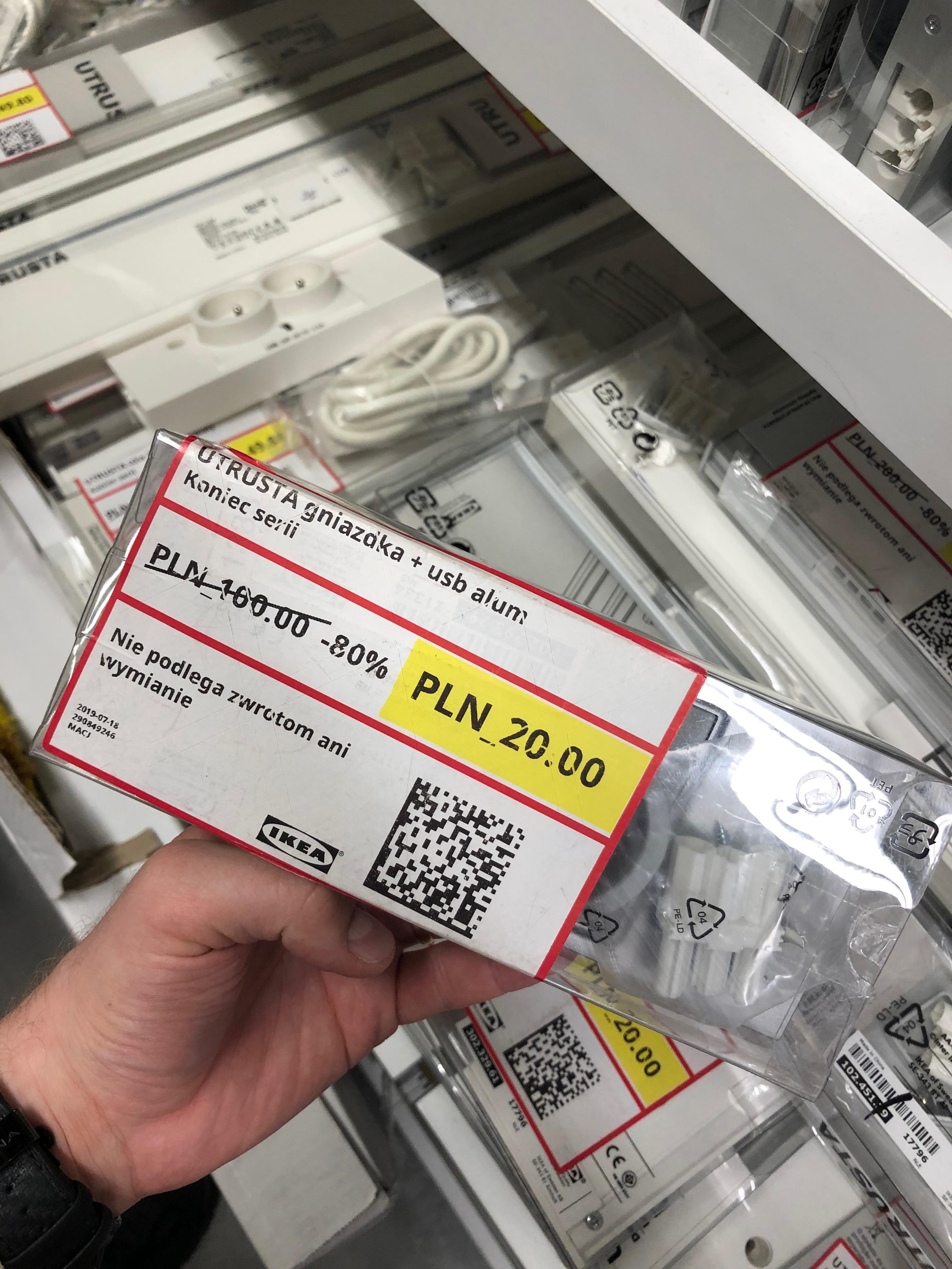 IKEA Poznań / Podwójne gniazdko z USB UTRUSTA