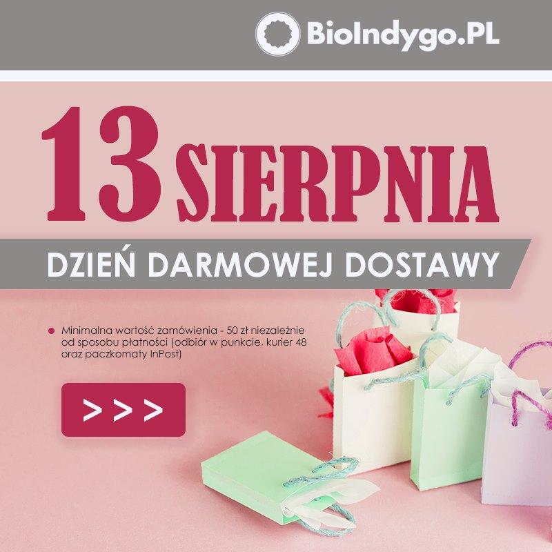 Darmowa dostawa w bioindygo.pl - zdrowa żywność + kod -5% (minimalna kwota zamówienia 50zł)