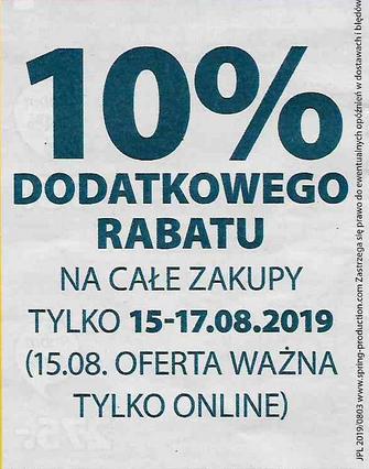 Dodatkowe 10% rabatu (stacjonarnie i online) @ Jysk