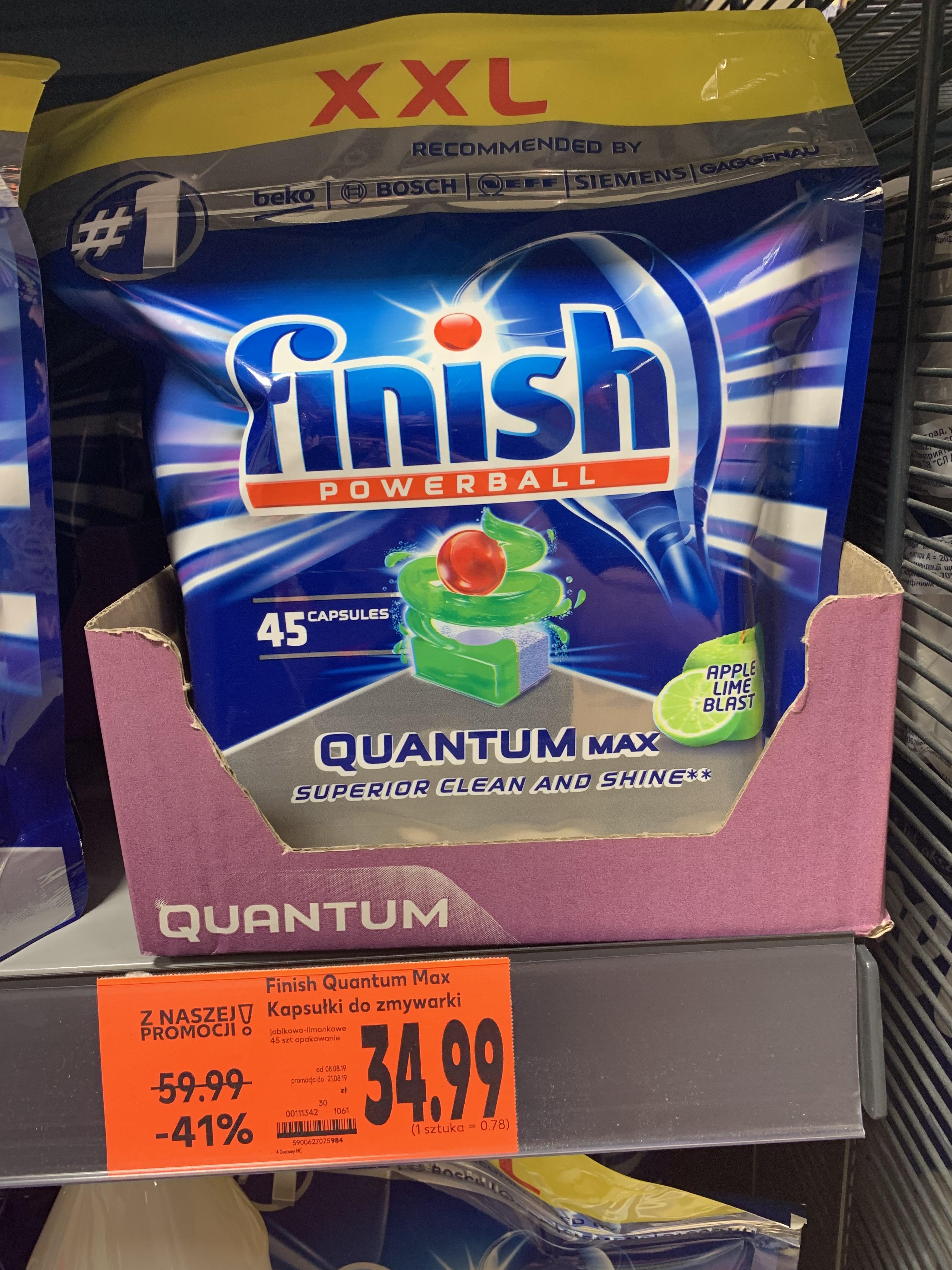 Tabletki do zmywarki Finish quantum max