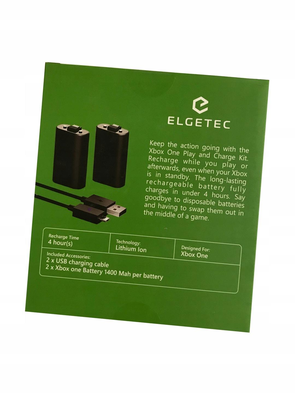 Akumulatory (2szt po 1400 mAh) do pada Xbox One