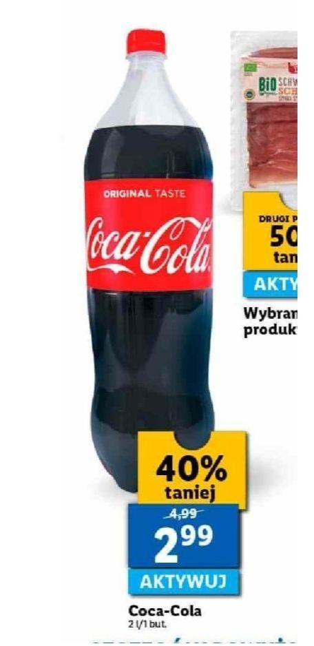 Coca-Cola 2 litry. Lidl