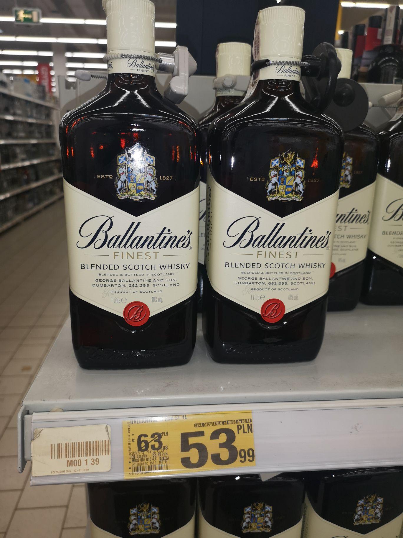 Ballantines Finest 1l Auchan M1 Warszawa