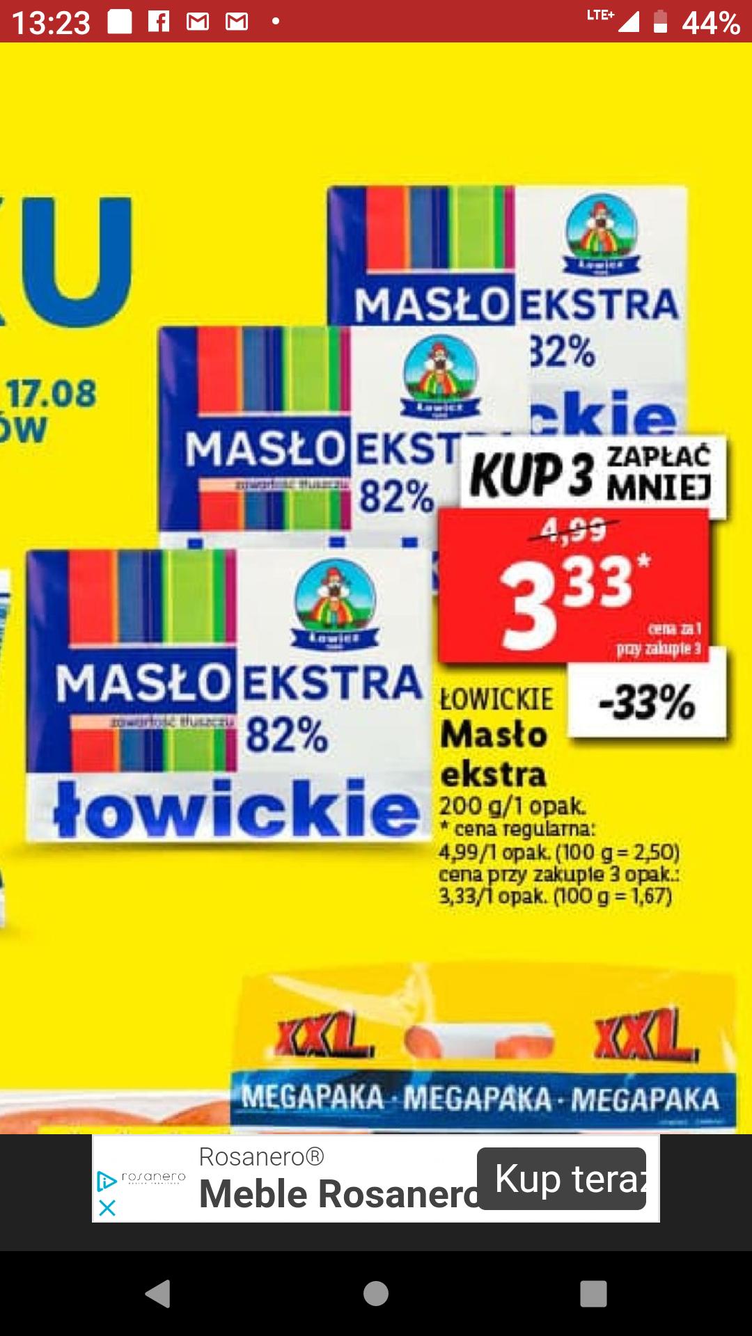 Masło Extra Łowickie 82% Maslo @ Lidl