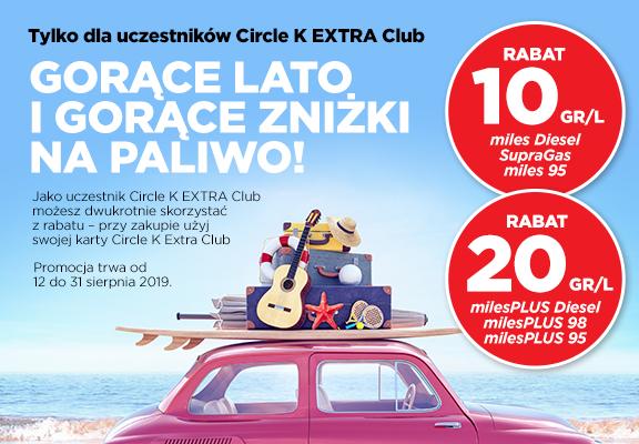 Circle K Extra Club rabat 10gr/l i 20 gr/l na paliwo