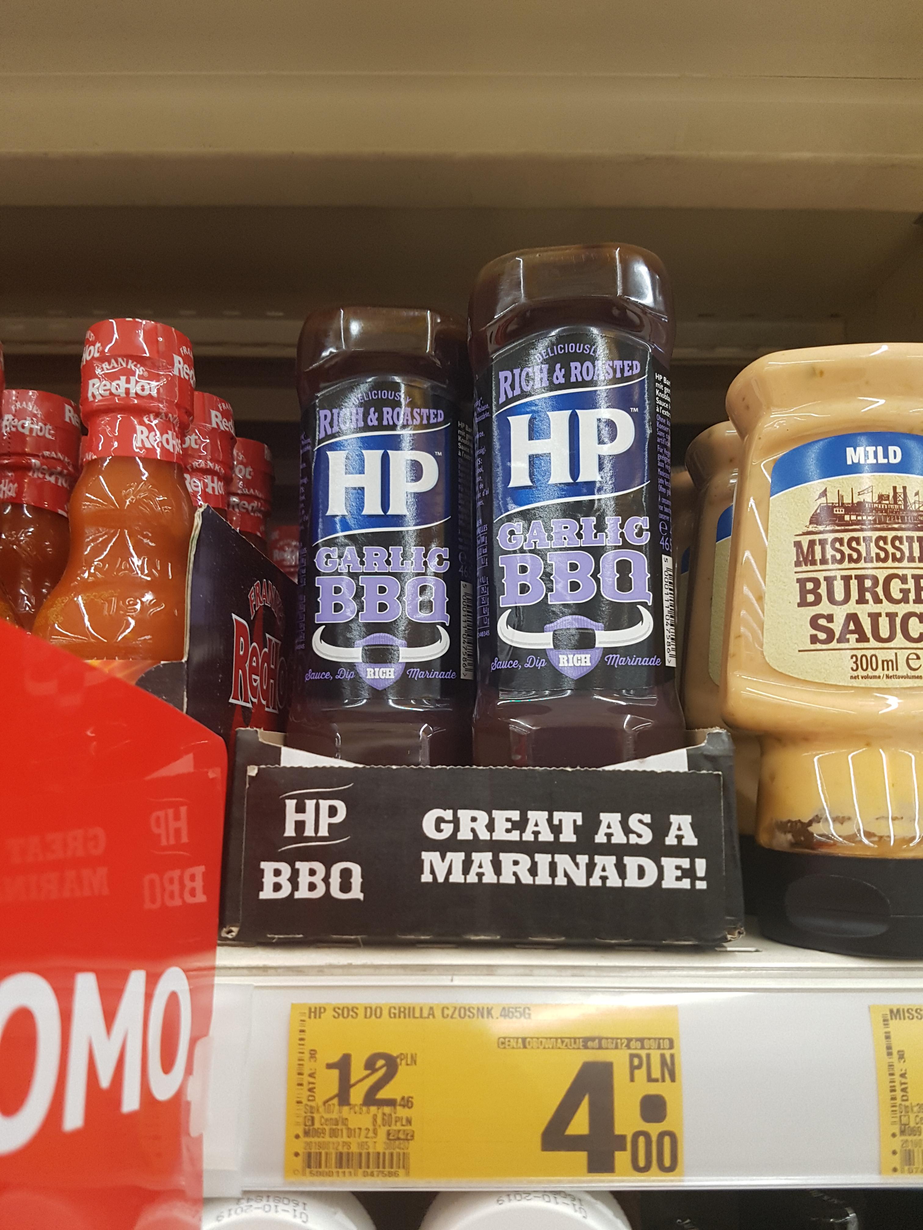 Sos HP Garlic BBQ w Auchan Wola Park