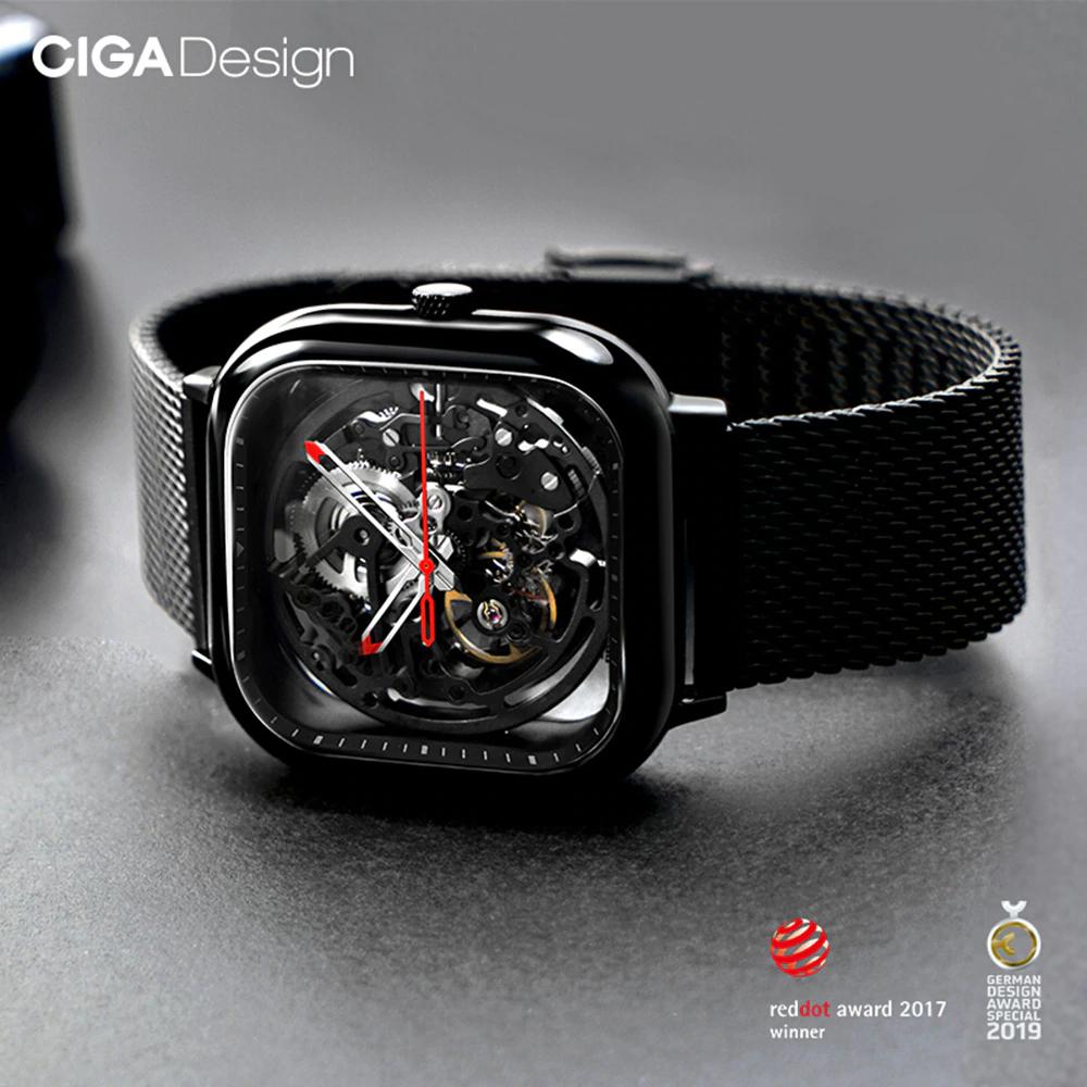 Błąd cenowy!? Zegarek mechaniczny Xiaomi Giga Design (szkło szafirowe) + zestaw wkrętaków za 232zł @ Aliexpress