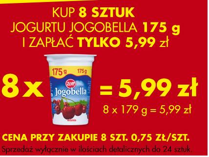 8 jogurtów JOGOBELLA 175 g