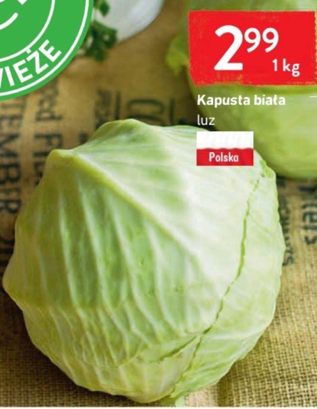 Kapusta Biała 2.99/1kg Intermarche