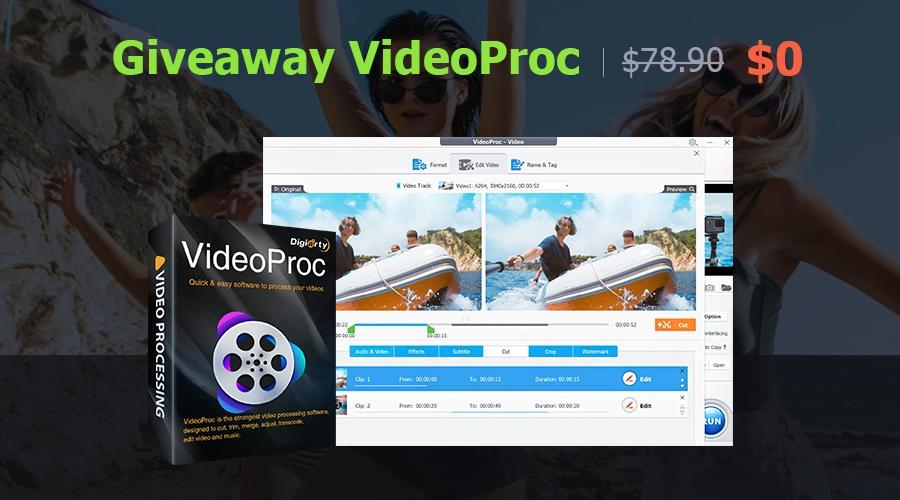 VideoProc - pełna wersja programu do edycji wideo