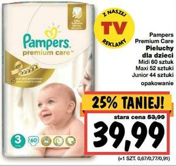 Pieluszki Pampers Premium Care za 39,99zł @ Kaufland
