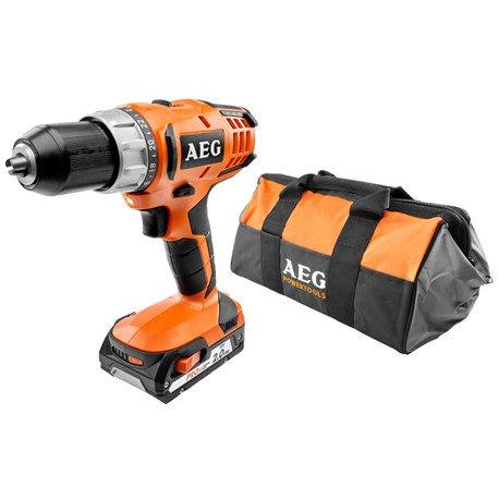 Wkrętarka AEG BS18G2 LI-201B z akumulatorem, ładowarką i walizką