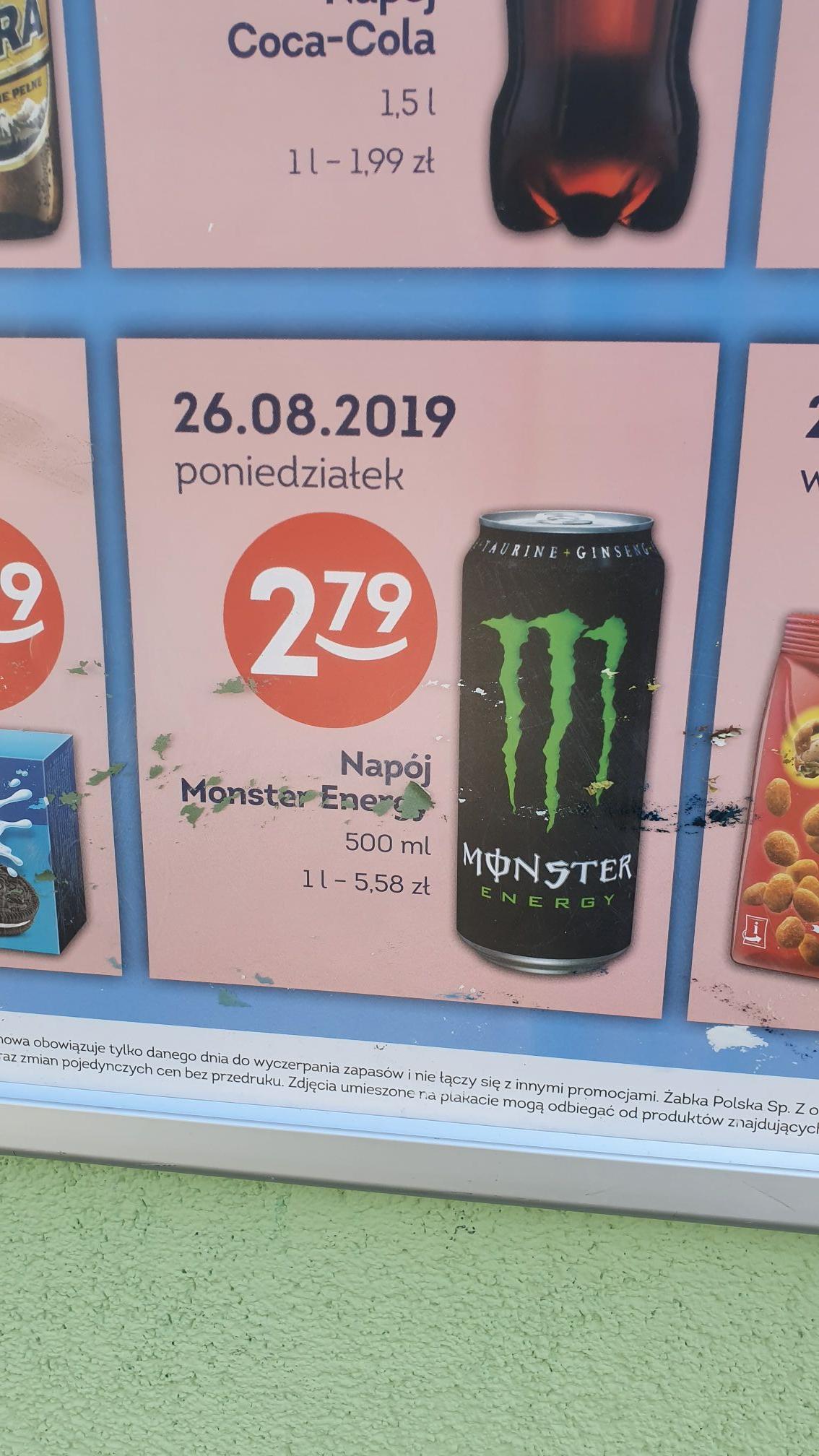 Monster @ żabka 26.08