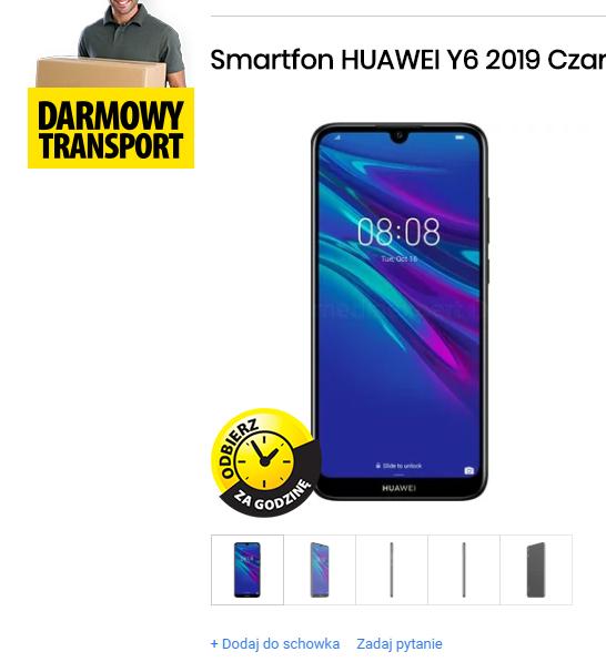 HUAWEI Y6 2019 - tani smartfon jeszcze tańszy