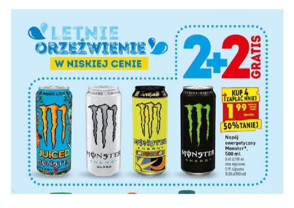 Monster 2+2 gratis biedronka