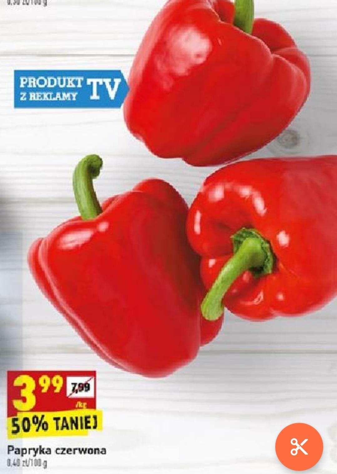 Papryka czerwona w super cenie tylko w dn. 16 -17.08. Biedronka