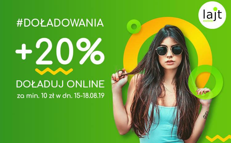 Lajt Mobile +20% do kwoty doładowania (online) #prepaid
