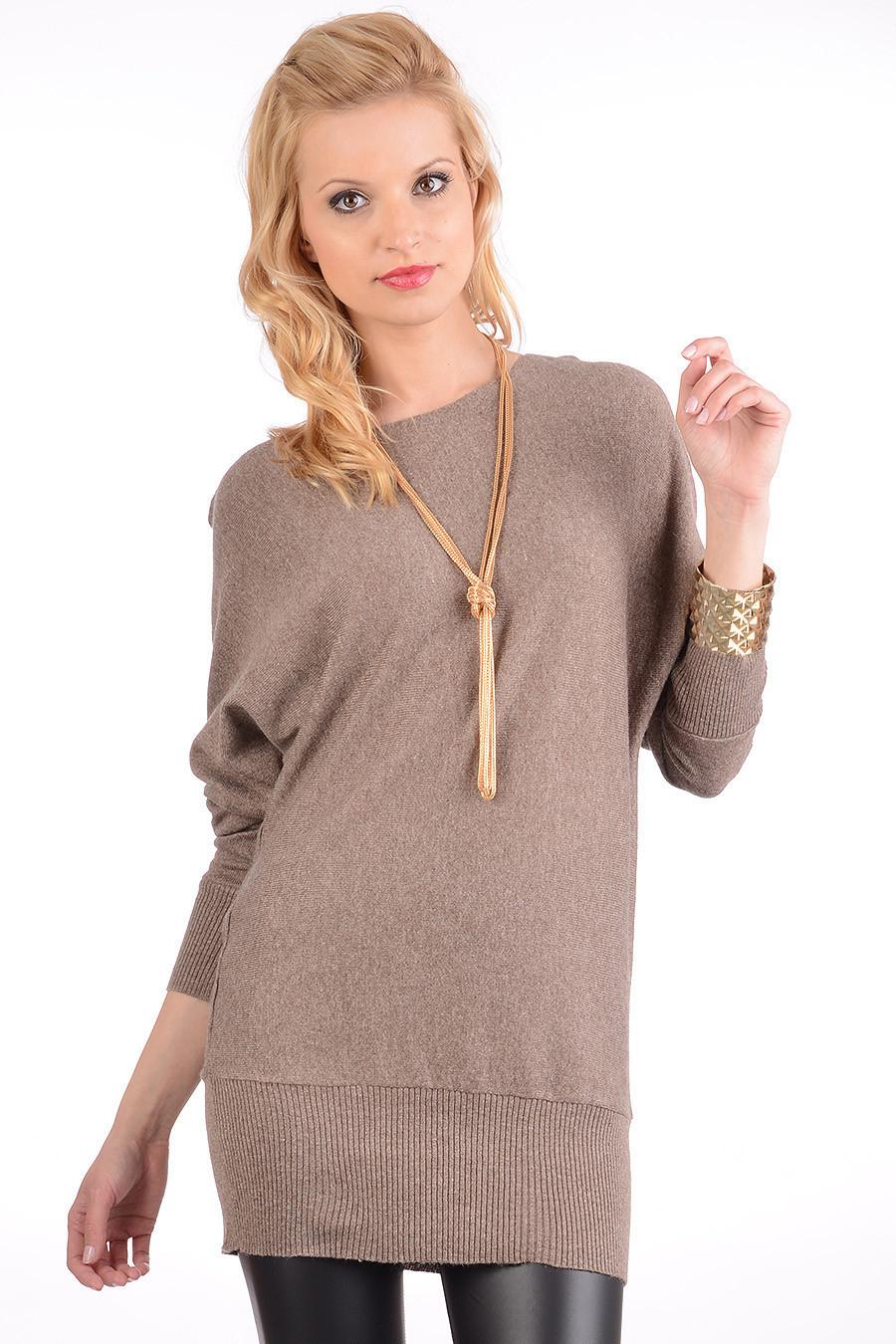 Długi damski sweter z rękawem kimono za 39,99zł @ Avaro.pl