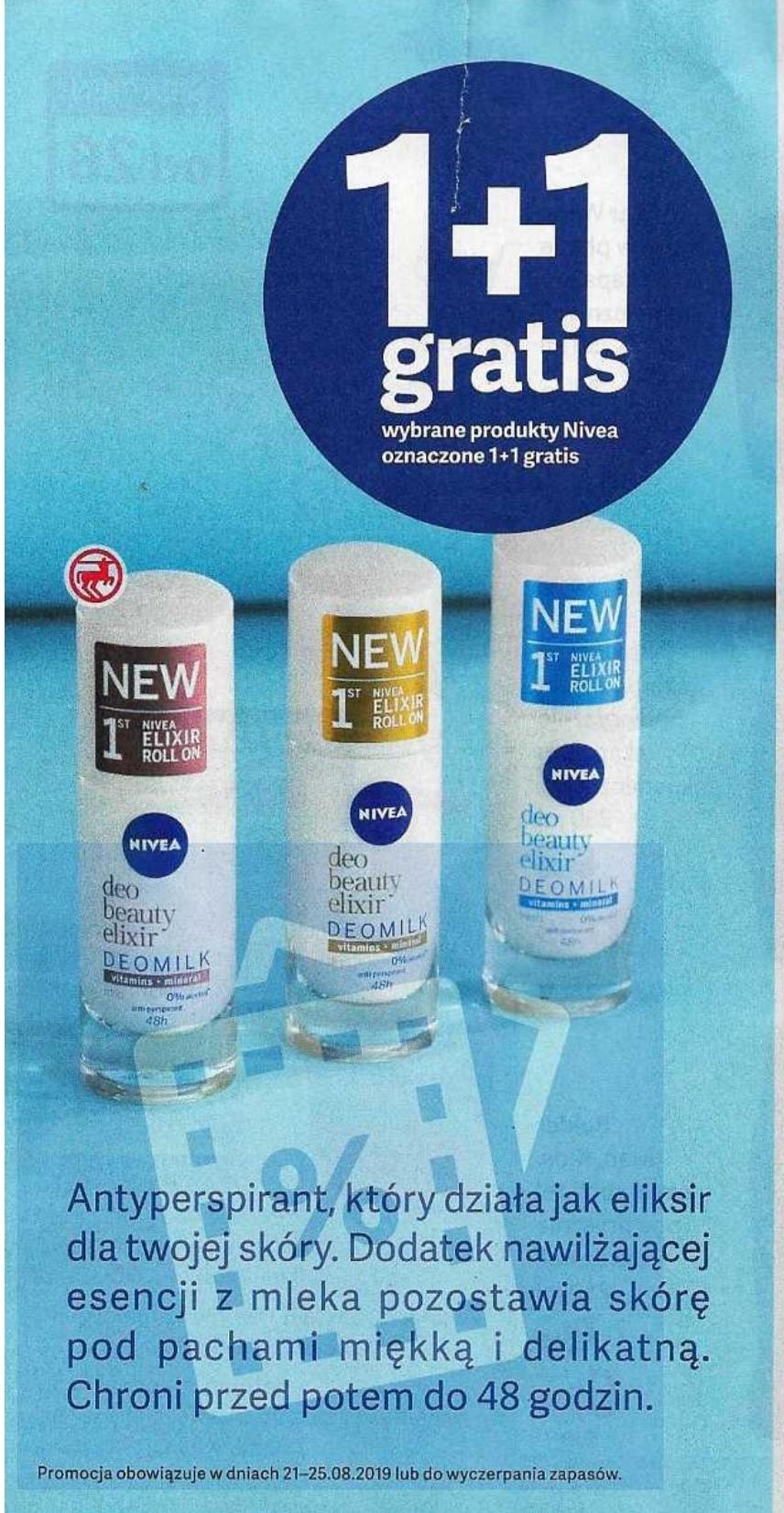 ROSSMANN 1+1 gratis na wybrane produkty Nivea 21.08.-25.08.