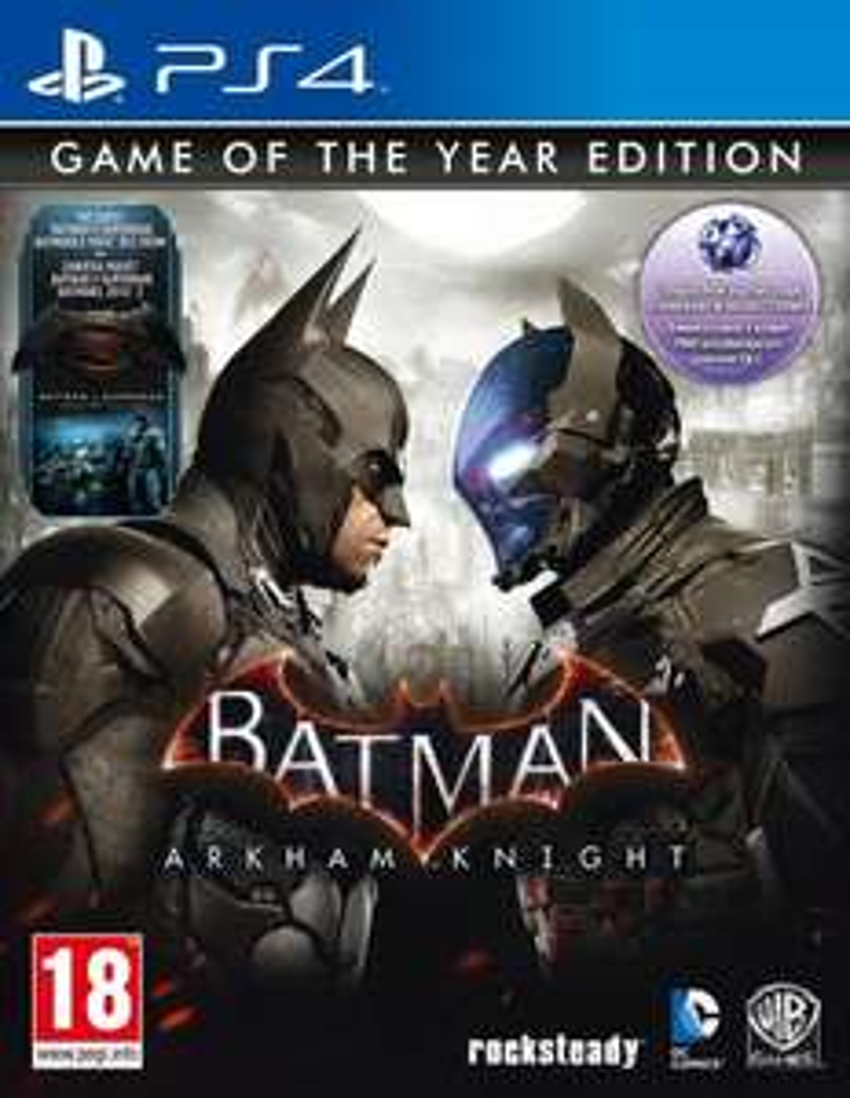 BATMAN ARKHAM KNIGHT GOTY STEELBOOK PL PS4