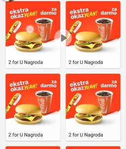 3x Darmowe 2 for u mcdonald's