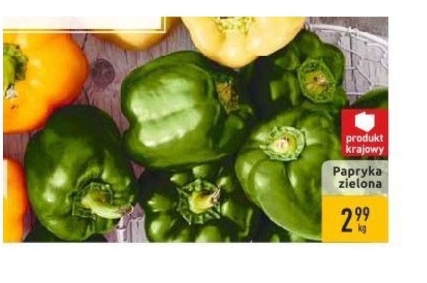 Papryka zielona i czerwona. Carrefour