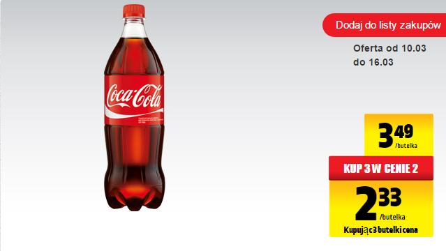 3x Coca Cola 1L za 6,98 Biedronka