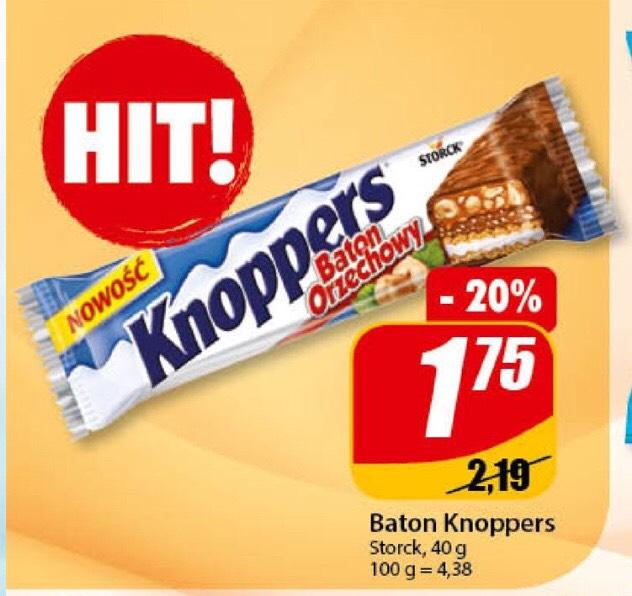 Baton Knoppers 1,75 zł w dino.