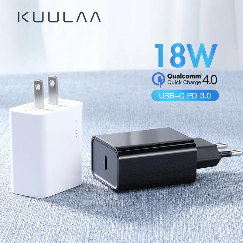 Ładowarka sieciowa KUULAA 18W z USB C i PD - Aliexpress