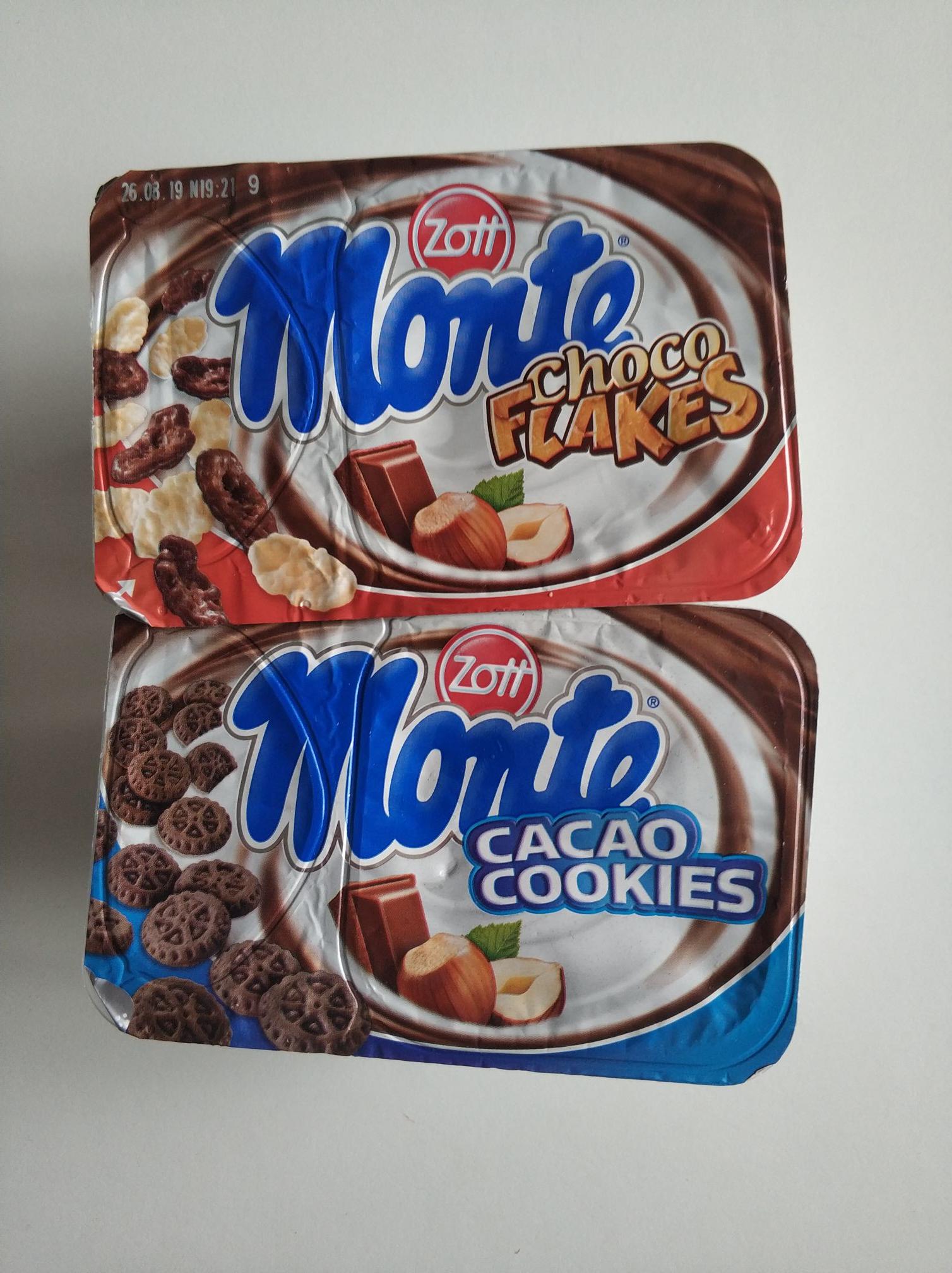 Desery Monte z dodatkami. 125g różne rodzaje. Cena przy zakupie 2szt Auchan