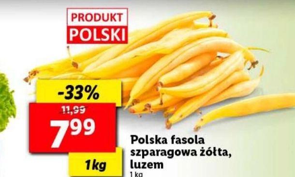 Polska fasola szparagowa zólta,luzem lidl