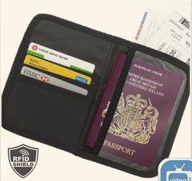 Etui na paszport i karty płatnicze z ochroną przed kradzieżą RFID Block Waist Bag, Selgros Białystok