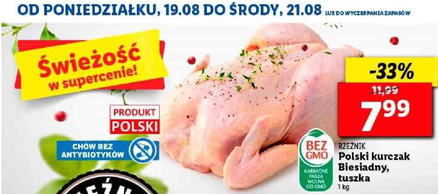 Polski kurczak bez antybiotyków w Lidlu.