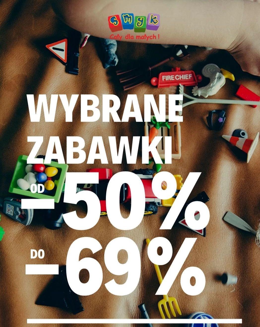 Smyk wybrane zabawki od 50% do 69% taniej. Dostawa 7.90zł