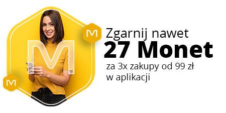 Do zdobycia 27 Monet za trzykrotne zakupy w aplikacji mobilnej Allegro (każdy zakup MWZ 99 zł)