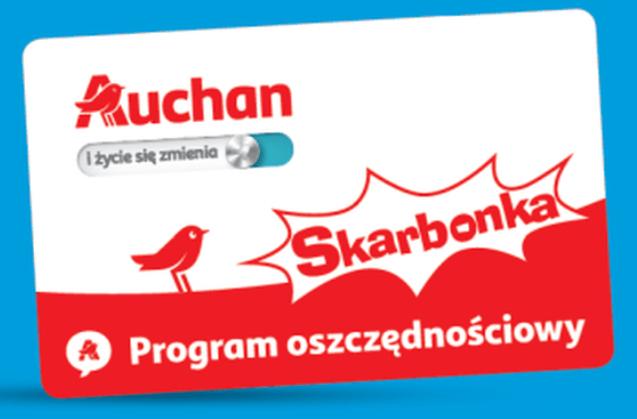 Bonus 30 zł od Auchan na kartę Skarbonka (MWZ 300,01 zł)