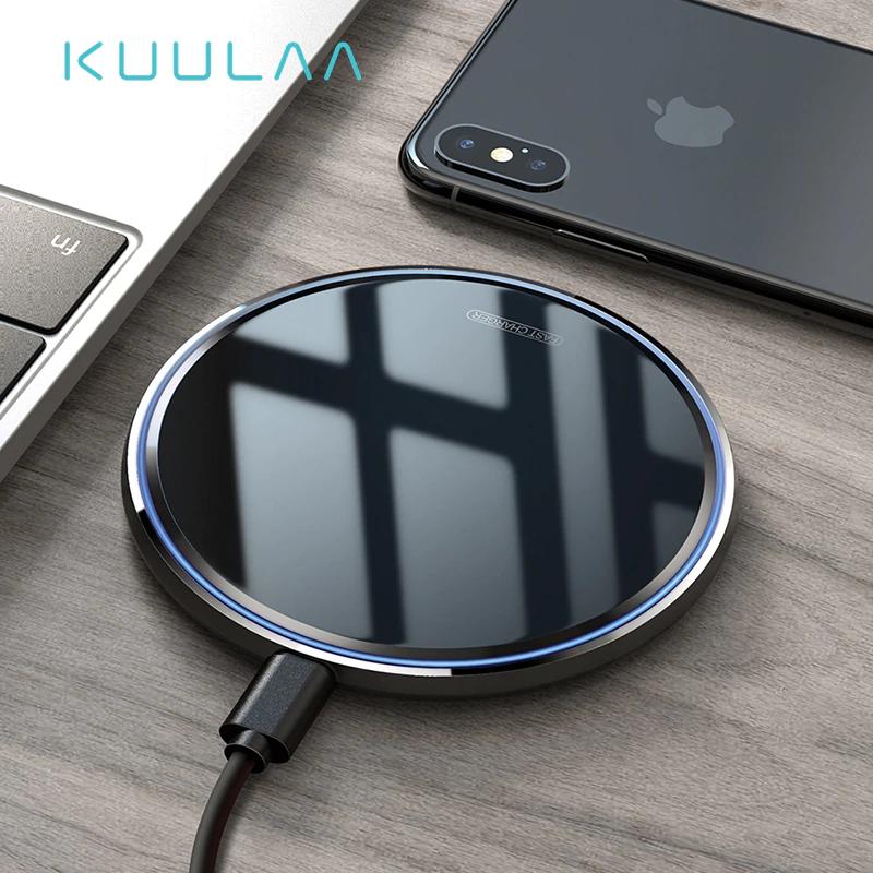 Ładowarka bezprzewodowa KUULAA Qi 10W (biała lub czarna) @ AliExpress