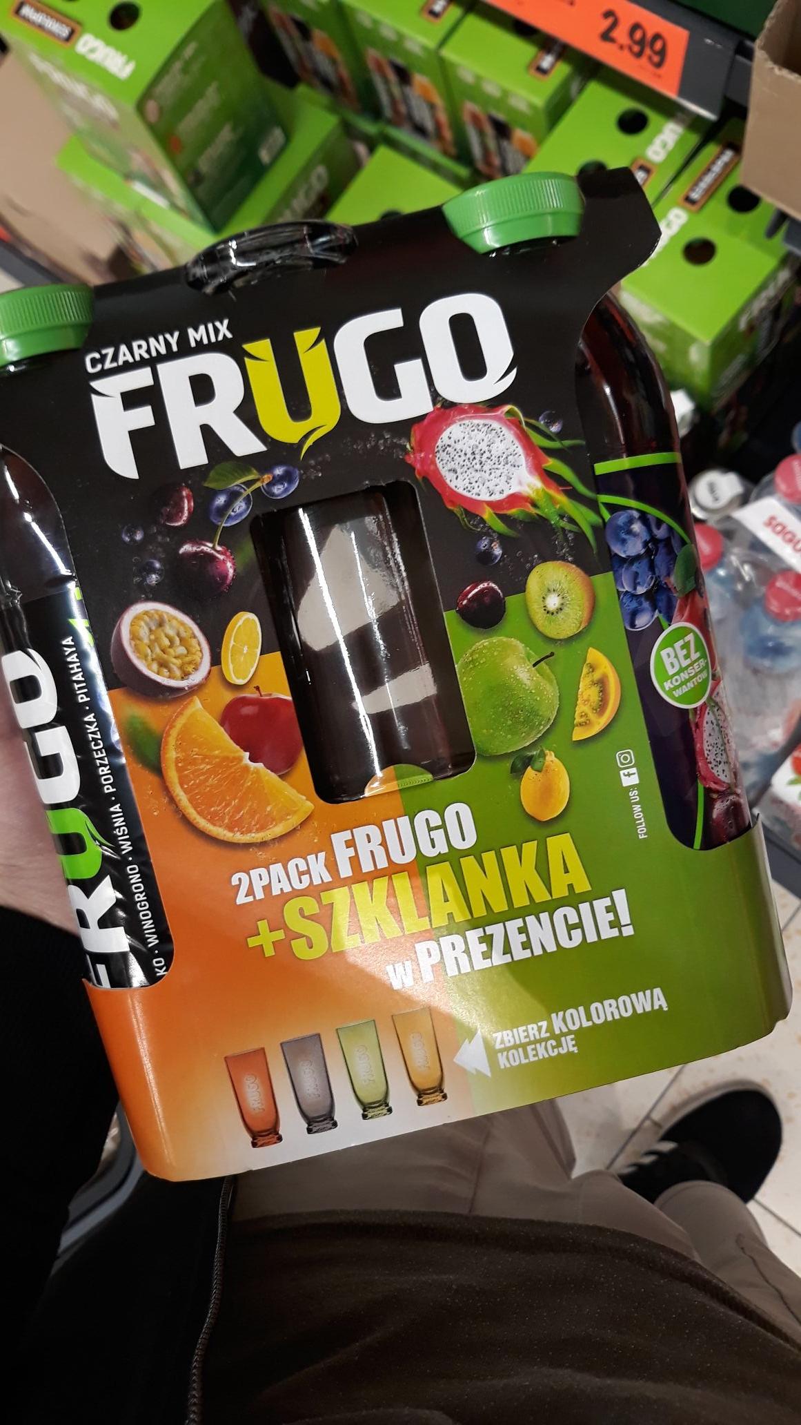 Litr frugo + szklanka w Lidlu