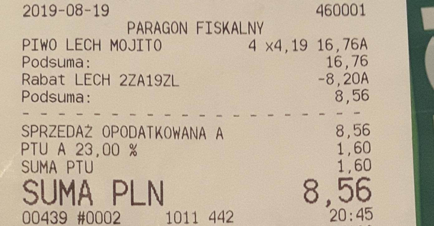 Piwo Lech Shandy Mojito 4x0,5 l, 0,53 gr puszka, Tesco